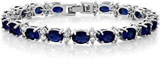 20.00 Ct Gorgeous Oval and Round 7inches Sparkling Cubic Zirconia CZ Tennis Bracelet