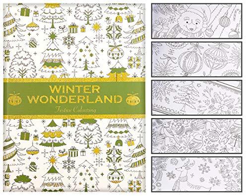 infactory Weihnachten-Malbücher: Malbuch für Erwachsene Winter Wonderland mit 32 Wintermotiven (Ausmalheft)