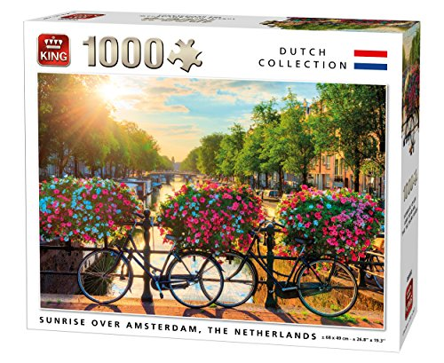 King 5721 Puzzle Sunrise Over Amsterdam 1000 delen, 68 x 49 cm