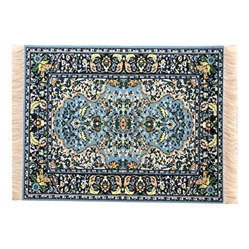 Beautiful Blue Oriental Rug Mousepad - Oriental Carpet Computer Mousemat Miniature