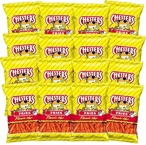 Chester's Flamin' Hot Fries , 1.75 ounce bags (Pack of 16)