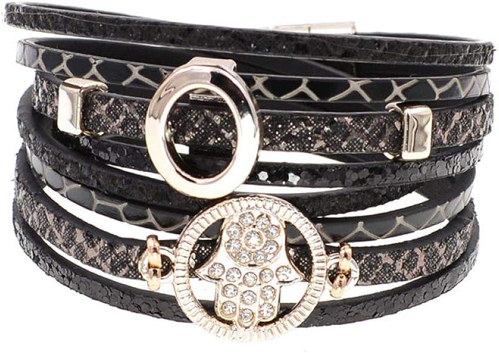 Brand new Fashion Free shipping Leather Bracelet Wrap Bracelets Trendy Women Bohemia For