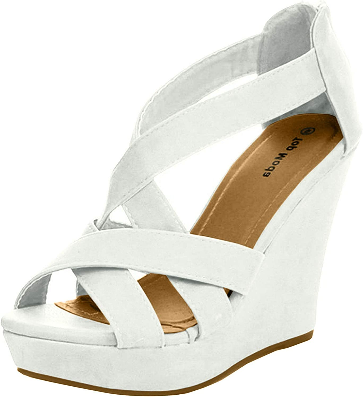 TOP Gifts Moda Ella-18 Womens Sandals Gladiator gift Heel Wedge