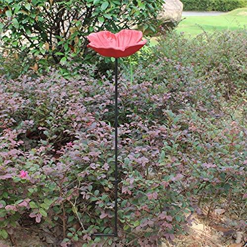 YANJ Alimentador de pájaros de Hierro Fundido Europeo Comida de Aves Decoración de jardín Hogar Hotel Decoración de Villa (Color: Flor de Cerezo)