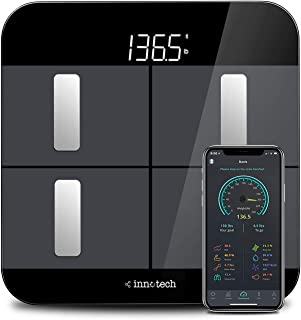 Innotech Body Fat Scale Smart Bluetooth Digital Bathroom Scales for Weight and Body Composition BMI Analyzer with Free APP...