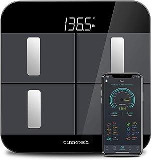 مقیاس چربی بدن Innotech ترازو حمام دیجیتال بلوتوث هوشمند برای تجزیه و تحلیل وزن و ترکیب بدن با برنامه رایگان ، با Fitbit ، Apple Health کار می کند