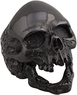 4ZOM Dead Walking Solid Death Skull Zombi Mens Solid Stainless Steel Ring