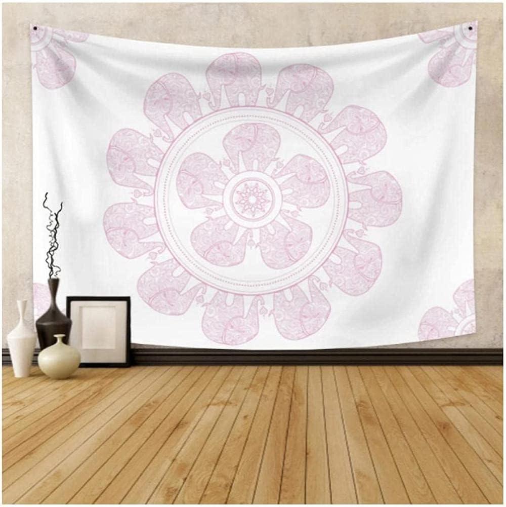 QJIAHQ White Background Pink Lace Decorative Ba Art Same day shipping Wall Mandala Gorgeous