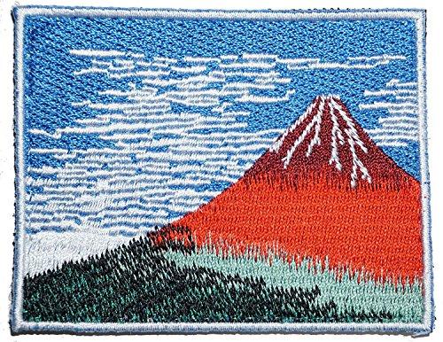 [Japan Import] 100% Embroidery Verclo Patches Hokusai Katsushika A0223