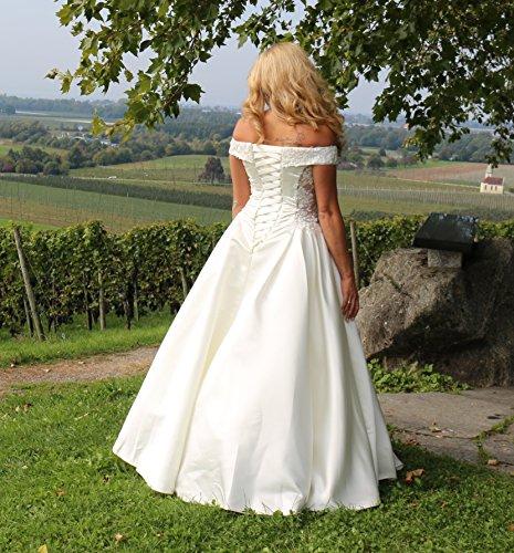 Luxus Brautkleid Hochzeitskleid Weiß nach Maß - 4
