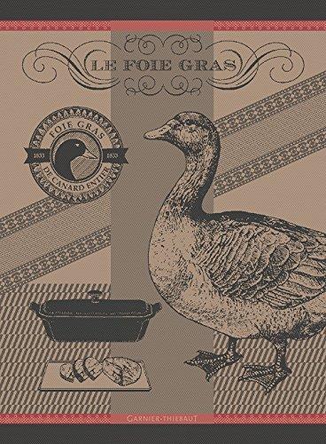 GARNIER THIEBAUT GESCHIRRTUCH - FOIE GRAS - ELISERE ROUGE - 56 X 77CM - 100% BAUMWOLLE