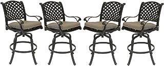 cast aluminum patio bar stools