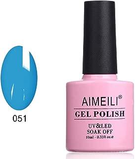 AIMEILI Soak Off UV LED Gel Nail Polish - Neon Blue (051) 10ml