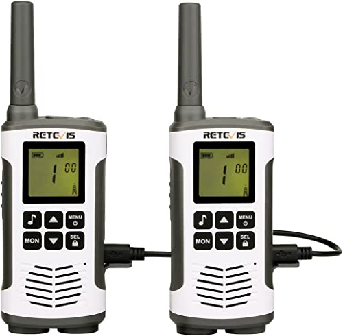 Retevis RT45 Talkie Walkie, 16 Canaux PMR446 sans Licence, Rechargeable Talkie-Walkie, 121 Codes LED VOX Scan, 10 Ton...