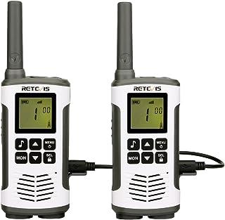 Retevis RT45 Walkie Talkie, PMR 446 sin Licencia, VOX, Pantalla LCD Retroiluminación, 10 Tonos de Llamada, Linterna LED, 3...