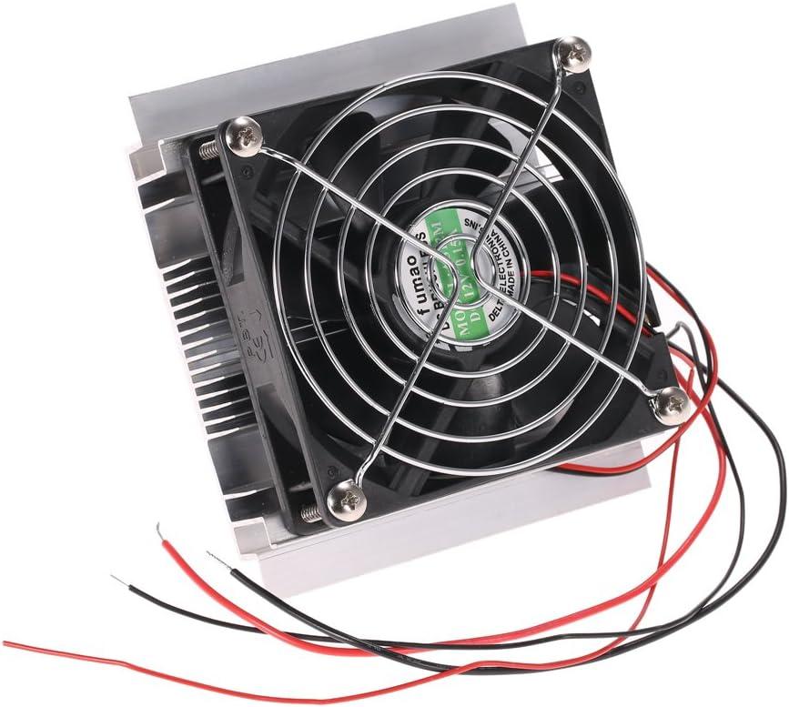 Refrigerador Termoeléctrico Weytoll DIY Termoeléctrico Peltier de Enfriamiento Refrigeración de Conducción + Radiador + Ventilador + TEC1-12706
