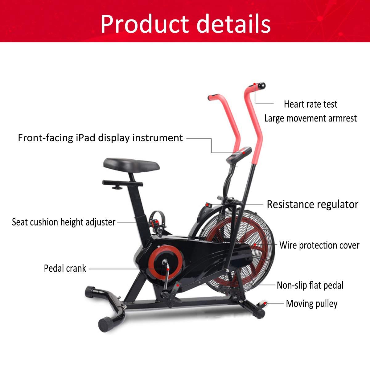 Shhjjyp Bicicleta De Ejercicio Air Assault Cardio Machine Fitness ...