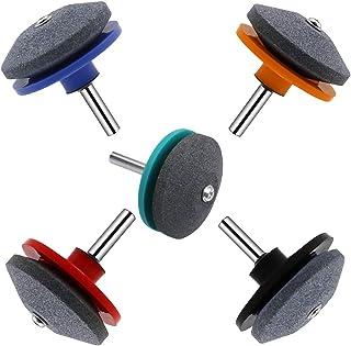 GOODGDN 5 Pieza Cortacésped Afilador,Afilador de Cuchillas Multiusos para Moler Cuchillas de Césped, Cuchillas de Perforación, Cortadoras de Césped