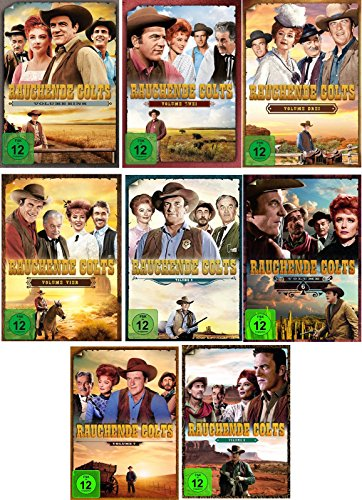 Rauchende Colts - Volume 1-8 im Set - Deutsche Originalware [51 DVDs]