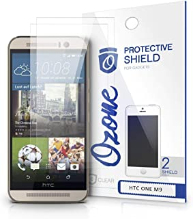 OZONE Crystal Clear HD Screen Protector Scratch Guard for HTC One M9 (Pack of 2)