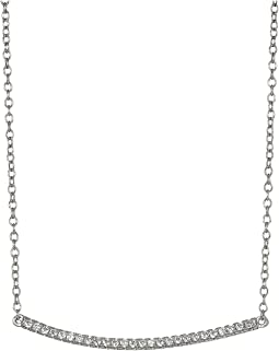 SHASHI - Bar Pave Pendant Necklace
