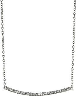 SHASHI Bar Pave Pendant Necklace