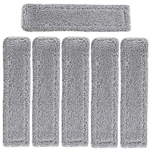 FHzytg 6 Stück Mikrofaser-Wischbezug für Kärcher Akku Fenstersauger WV 5 Premium WV 2 Premium (Plus), WV 5 Premium (Plus) 2.633-130.0 (Grau)