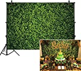Allenjoy 9x6ft Fabric Green Leaves Backdrop for Studio Photography Natural Grass Leaf Pictures Background Bride Baby Shower Spring Birthday Party Outdoorsy Photo Booth Prop Wedding Decoration Supplies