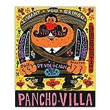Shmjql Lienzo Pintura Al Óleo Jorge Gutiérrez Pancho Villa Póster Artístico Impresión De Pared Cuadro De Pintura Decoración del Hogar-60X80Cmx1 Sin Marco