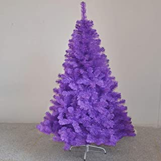 UYASDASFAFGS Tradición Pino Árbol De Navidad Artificial,Calidad Plástico Púrpura Árboles De Navidad Decoraciones con Soporte para La Fiesta De Navidad-Morado 5 Feet/1.5 M