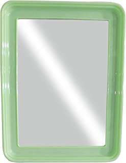 Baal Square Shape Decorative Wall Mirror for Home Living Room and Bathroom Use 20 Gram Pack of 1 (Green)