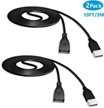 2 Pack 10ft Extension Cable Wire Cord for Sony Playstation Classic Controller 2018, Lislim New Playstation Classic Controller Extender Cable Extension Power Cord