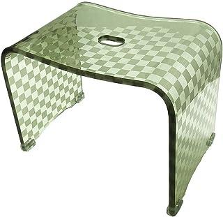 デザイン バスチェア 「チェッカー」 Lサイズ (単品) (サイズ/ 約W38×D25×H30cm, グリーン)