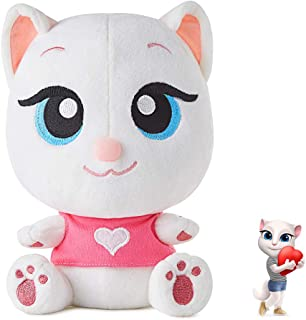 """Talking Plush Toy Electronic Cat Doll Shower Gift Cute Sound Effects with Repeats Your Said Voice Best Buddy for Kids Boy Girls Gift Birthday Present (Talking Angela, 7.8"""")"""