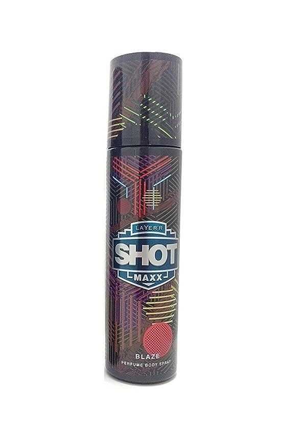不愉快に摘む匹敵しますLayer'r Shot Maxx Perfume Body Spray, Blaze, 125ml