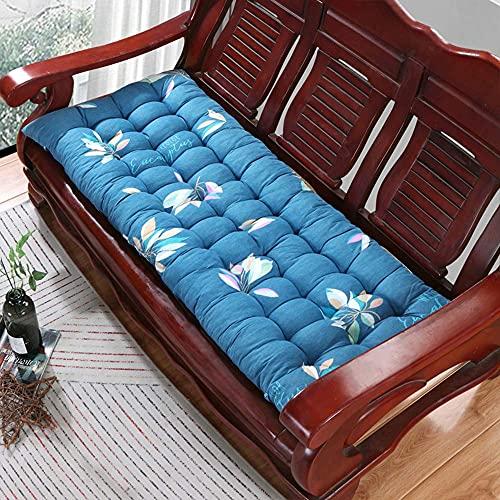 GECOKU Cuscino per Panca Ultra Spesso da 8 cm, Cuscino per Sedile Rettangolare Antiscivolo Resistente, Comodo Cuscino per Sedia a Dondolo per Giardino all'aperto per 2-3 posti