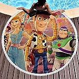 Toy-Story - Toalla de playa redonda de microfibra grande circular para la playa, pícnic,...