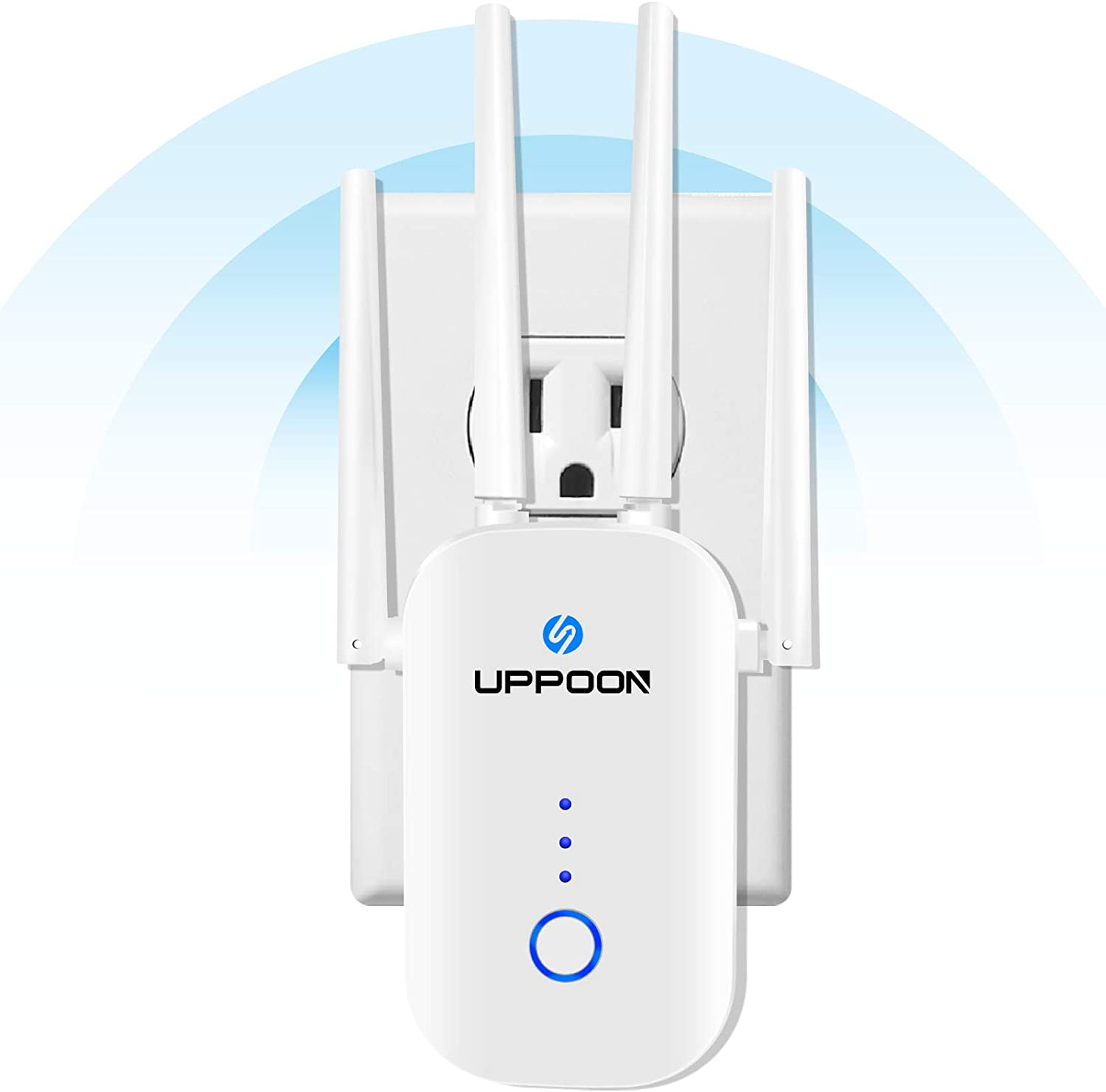 UPPOON 1200Mbps WiFi Extender Signal 4500sq.ft to OFFer 2. Booster Deluxe up