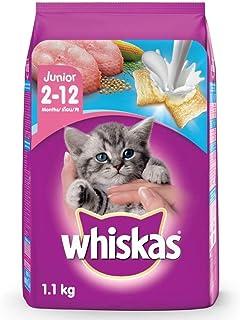 Whiskas Kitten (2-12 months) Dry Cat Food Food, Ocean Fish Flavour with Milk, 1.1kg Pack