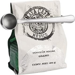 Coffee Scoop, Stainless Steel Beokey Long Handled Tea Spoon with Bag Clip, Silver