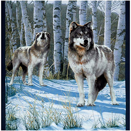 Windham Fabrics Windham One Of A Kind Whistler Studios Snow Wolf 24'' Panel Multi