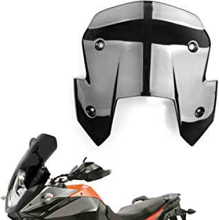 Motoparty Adjustable Clip On Windshield Extension Spoiler Windscreen Air Deflector For Ducati 1199 Panigale R S 1299 Panigale S,For KTM 65 125 150 200 250 300 350 990 1190 1290