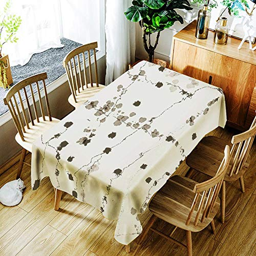 Viner Marbled Street Nappe Nappe d'eau Rectangulaire Papier Peint Table Cover Protector Party Banquet Table Cover Dining, BO799,140X180CM