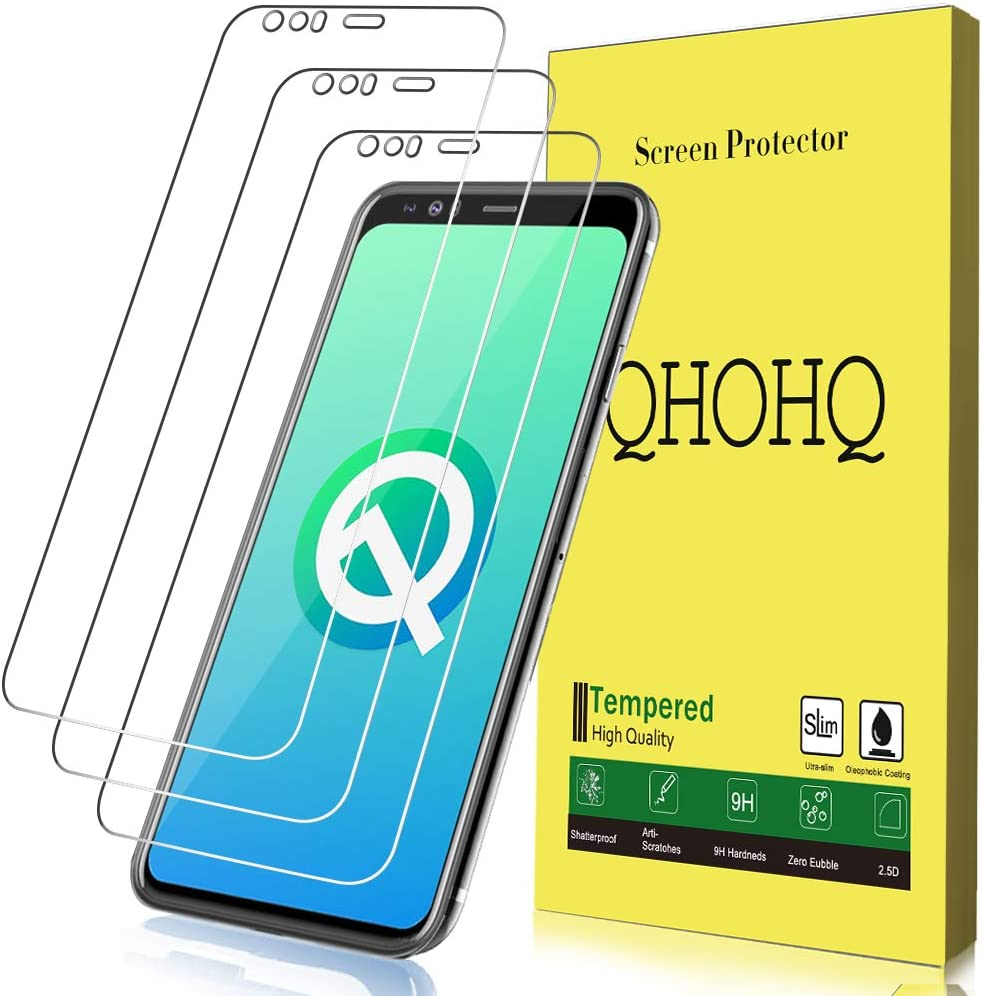 [3-Pack] QHOHQ Screen Protector for Google Pixel 4 XL,[9H Hardness] HD Transparent Scratch-Resistant [Bubble Free] Tempered Glass