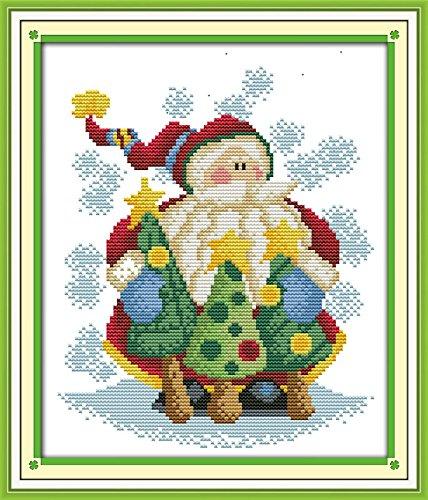 benway compté point de croix Père Noël 14 fils 25 x 25 x 28 cm