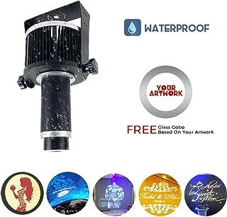 40W LED Proyector De La Insignia De Luz Del Proyector Del Gobo De La Lámpara Al Aire Libre IP65 A Prueba De Agua Para La Tienda Del Restaurante Boda Del Evento De Navidad Publicidad De Muestras,Negro