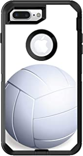 DistinctInk Custom Skin/Decal Compatible with OtterBox Defender for iPhone 7 Plus / 8 Plus - White Volleyball