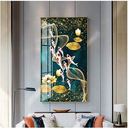 5PCS Oil Painting Home Wall Decor Frameless Moder Landscape Art Canvas Pictur