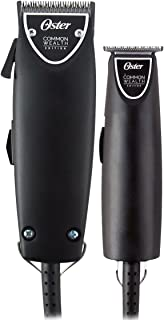 Oster Professional Common Wealth Edition Fast Feed Clipper + T-Finisher Trimmer Haircut Kit Combo Matte Black