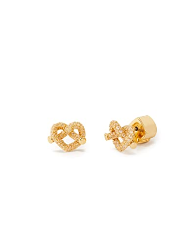 Kate Spade New York Loves Me Knot Pave Mini Studs Earrings (Clear/Gold) Earring